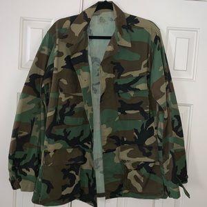 EUC Camouflage Top/ Jacket Size M.